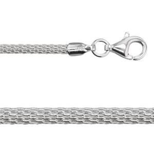 2D2018: Sterling Silver 2mm Mesh Woven Neck Chain