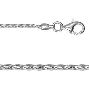 2DRP1916: Sterling Silver Diamond Cut Spiga Chain