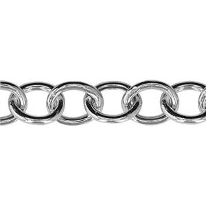 2H100: Sterling Silver Hollow Cable Chain