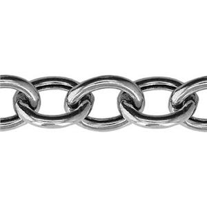 2H150: Sterling Silver Hollow Cable Chain