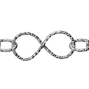 2K22: Sterling Silver Textured Infinity Fashion Chain