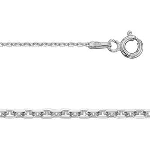 2K4414: Sterling Silver Diamond Cut Forzantina Flat Cable Finished Chain with Spring Ring