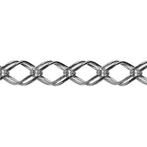 2K50: Sterling Silver Double Rombo Chain