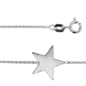 2K7218: 18in, 1.1mm Necklace with 13.8x13mm Sideways Star Link