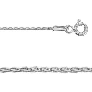 2KRP0330: Sterling Silver Diamond Cut Spiga Neck Chain with Spring Ring
