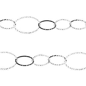 2Q675: 35mm 22ga Hammered Oval Chain