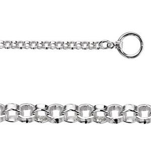 2RLT18: Sterling Silver Rollo Chain Toggle Necklace