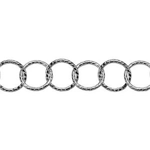 2RTW06: Sterling Silver Twisted Circle Link Chain