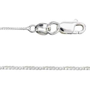 2V75L14: Sterling Silver Box Finished Chain with Lobster Claw