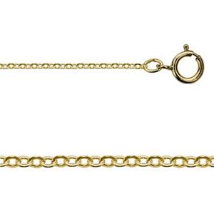 30830F20: Gold-Filled Tiny Flat Cable Pendant Chain Necklace