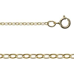 31018F30: Gold-filled Flat Cable Chain Necklace