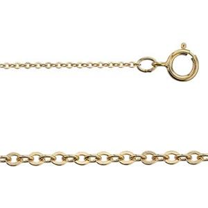 31132F16: 14/20 GF 16in, .9mm Tight Cable Chain with Spring Ring