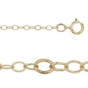 31212F16-18: 14/20 GF Flat Cable Chain with Spring Ring