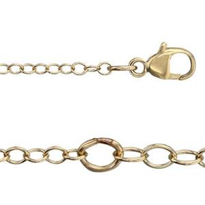 31316L16-18: 14/20 Gold-filled Cable Chain with Lobster Claw and Cable Chain Extender