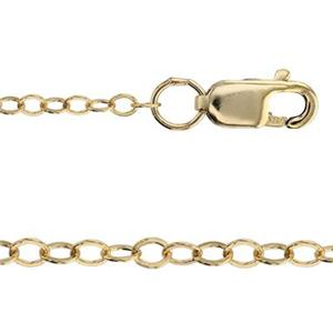31318FL16: 14/20 Gold-filled Flat Cable Neck Chain with Lobster
