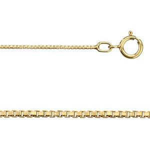 314BX24: 14/20 GF 24in, .8mm Box Chain with Spring Ring