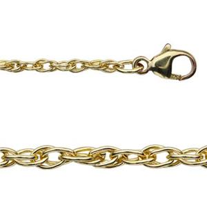 316R18: Gold-Filled 2mm Double Rope Chain Necklace