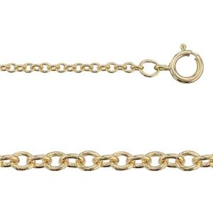 3174016: 14/20 Gold-filled Heavy Cable Finished Chain Necklace with Spring Ring