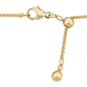 317822: 14/20 GF Adjustable Spiga Wheat Neck Chain with Lobster Clasp