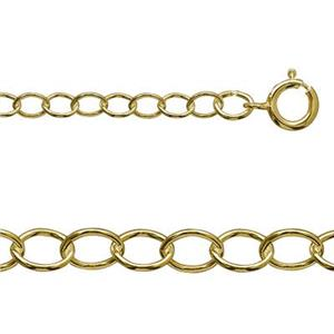 318089: 14/20 Gold-filled Light Oval Cable Chain Anklet or Bracelet