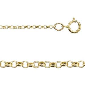 321124: Tiny Rollo Chain with Spring Ring
