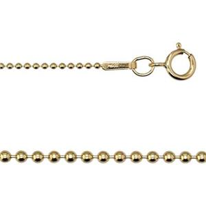 33618: 14/20 GF Ball Neck Chain 18 inch