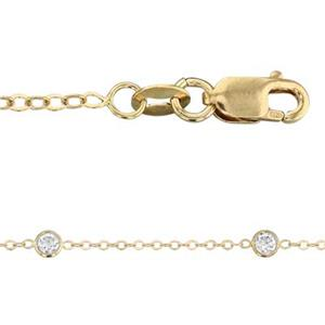 3417CZ16-18: 14/20 Gold-Filled Flat Cable Neck Chain with Lobster Claw