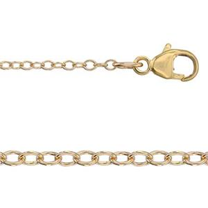 3520L16: 14/20 Gold-filled Light Cable Neck Chain with Lobster Claw Clasp