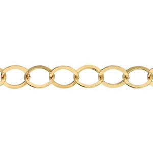3670F: 14/20 Gold-filled Flat Circle Chain