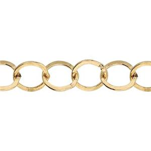 3675F: 14/20 Gold Filled Flat Circle Chain