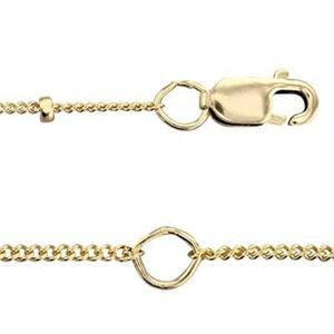 3844L16-18: 14/20 Gold-filled Saturn Curb Chain with Lobster Claw