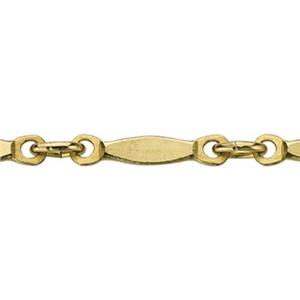 38735: Gold-Filled Hammered Bar Chain