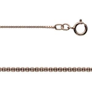 3RG14BX18: Rose Gold-Filled Box Chain Necklace