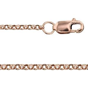3RG450L16: 14/20 Rose GF Rollo Neck Chain with Lobster Claw Clasp