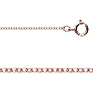 3RG830F18: Rose Gold-Filled Delicate Cable Chain Necklace