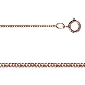 3RG84218: Rose Gold-Filled Tiny Curb Chain Necklace