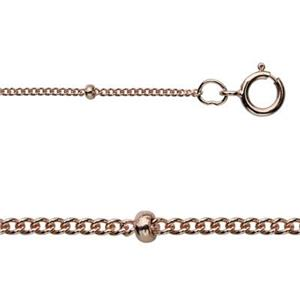 3RG84418: Rose Gold-Filled Saturn Cable Necklace Chain