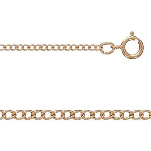 3RGCD7516: 14/20 Rose GF 16in, 1.5mm Curb Chain with Spring Ring