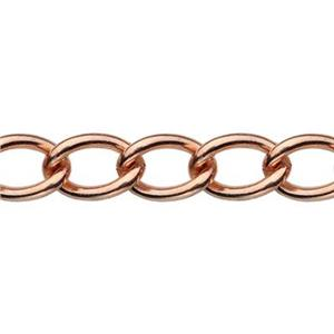 445CD: Copper Curb Chain