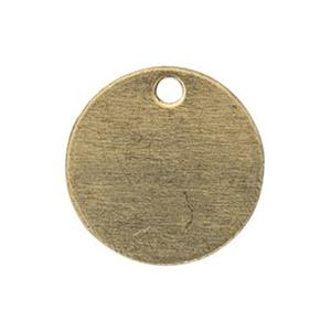 BR211: Brass 9.5mm Circle Stamping Blank