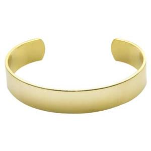 BU152: Brass 14 Gauge Formed Cuff Bracelet