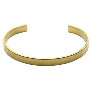 BU154: Brass 14 Gauge Formed Cuff Bracelet