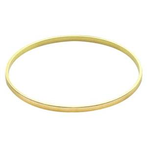 BU18: Brass 14 Gauge Bangle Bracelet