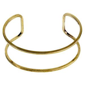 BU805: Brass Wire Wrapping Cuff Bracelet Frame