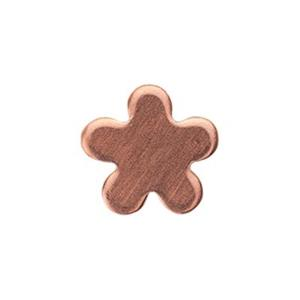 CB181: Copper Tiny Flower Rivet or Solder Charm