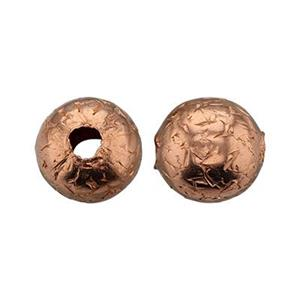 CB186: Copper 6mm Hammered Bead