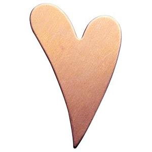 CB534: Copper Funky Heart Blank