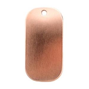 CL168: Copper Dog Tag Blank