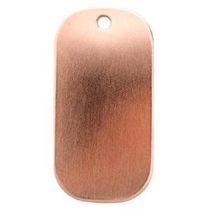 CL170: Copper Dog Tag Blank