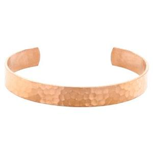 CU155: Copper Hammered Cuff Bracelet